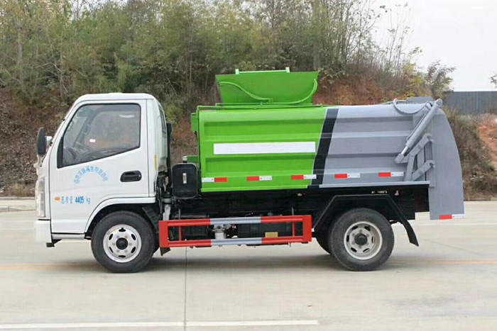 凯马蓝牌餐厨式垃圾车左侧图片